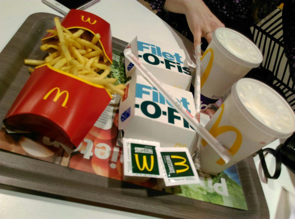 Eten bij Mc donalds
