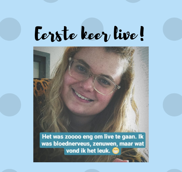 Mijn eerste live-opname!